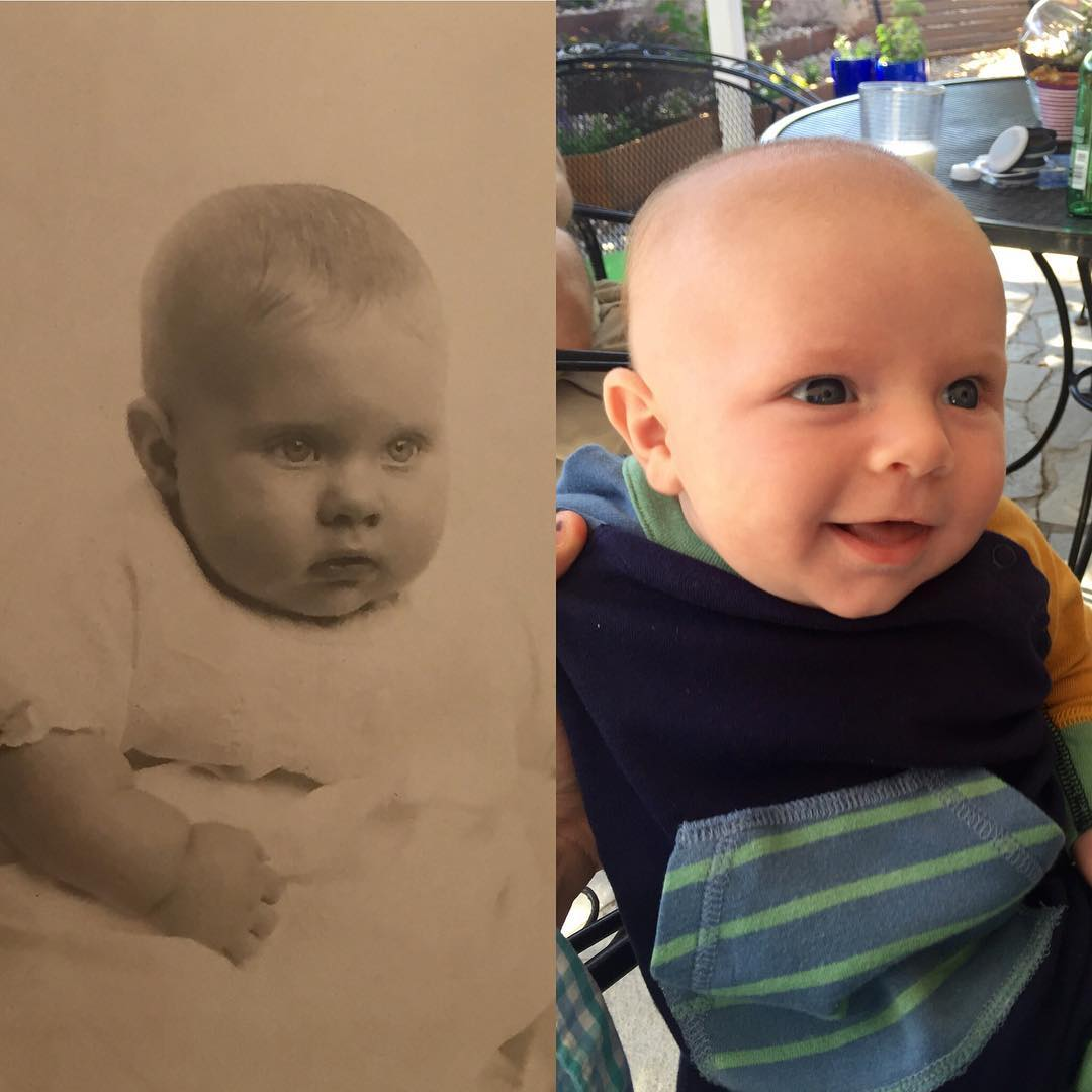 Charlie's great-grandfather Duane as an infant. Any similarities? #babykinsrice